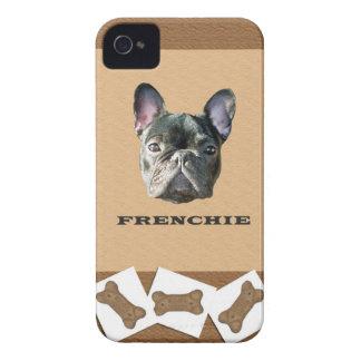 Caso de Iphone 4 de la galleta de perro de Frenchi Case-Mate iPhone 4 Cárcasas