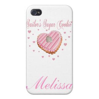 Caso de IPhone 4 de la galleta del azúcar del mari iPhone 4 Funda