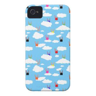 Caso de Iphone 4 de los conejos y de los rectángul Case-Mate iPhone 4 Funda