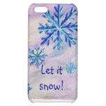 Caso de IPhone 4 de los copos de nieve