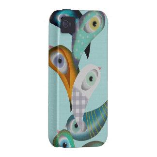 Caso de Iphone 4 de los pájaros de Lucha Libre iPhone 4/4S Carcasas