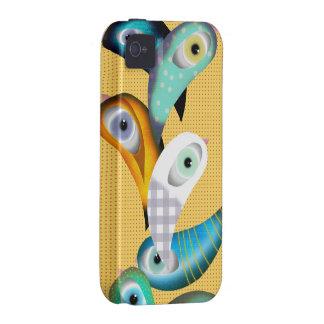 Caso de Iphone 4 de los pájaros de Lucha Libre Vibe iPhone 4 Carcasas
