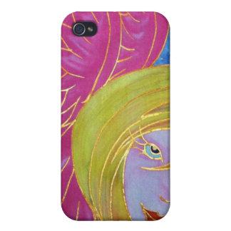 Caso de Iphone 4 del ángel: Imagen de seda de Cyn  iPhone 4 Fundas