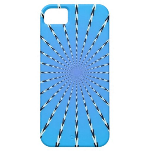 Caso de Iphone 4 del arte abstracto (azul cielo de iPhone 5 Case-Mate Protectores