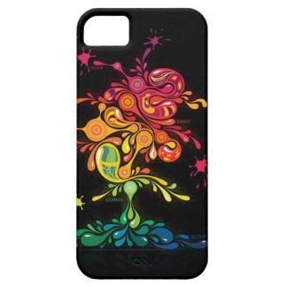Caso de Iphone 4 del arte abstracto chapoteo retr iPhone 5 Funda