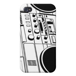 Caso de Iphone 4 del equipo estéreo portátil de la iPhone 4/4S Funda