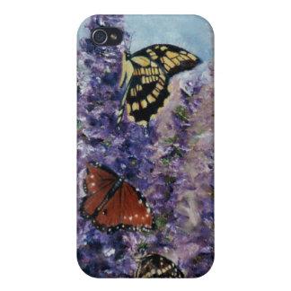 Caso de IPhone 4 del jardín de la mariposa iPhone 4/4S Carcasas