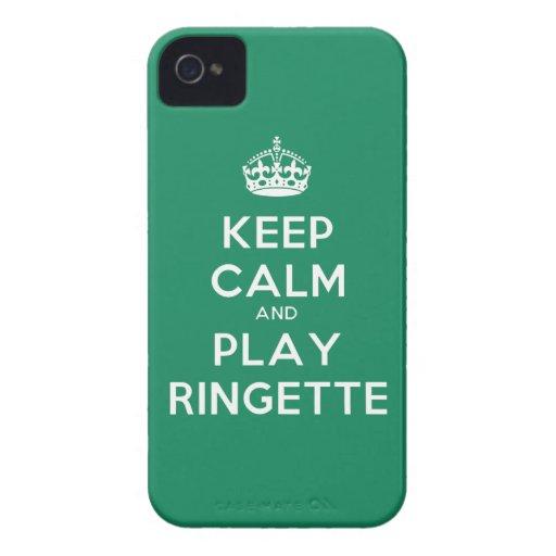 """Caso de IPhone 4 del juego tranquilo de Ringette """" Case-Mate iPhone 4 Protectores"""