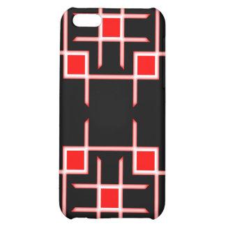 Caso de Iphone 4 del remiendo rojo