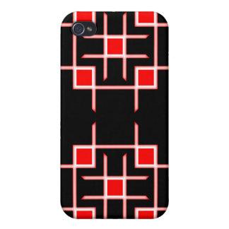 Caso de Iphone 4 del remiendo rojo iPhone 4/4S Carcasa