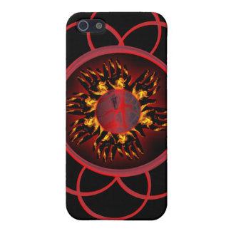Caso de IPhone 4 del resplandor de la lava de CRPS iPhone 5 Carcasas