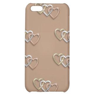 Caso de Iphone 4 del trío del corazón que entrelaz