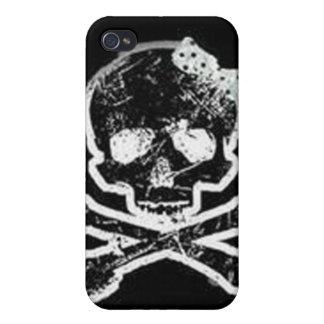 Caso de IPhone 4 - huesos del cráneo y de la cruz iPhone 4/4S Fundas