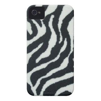 Caso de Iphone 4S del estampado de zebra Case-Mate iPhone 4 Cárcasa