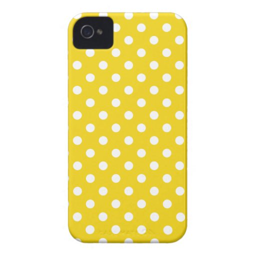 Caso de Iphone 4S del lunar en amarillo limón iPhone 4 Cárcasa