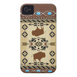 "Caso de IPhone 4S del nativo americano del ""búfalo Case-Mate iPhone 4 Coberturas"