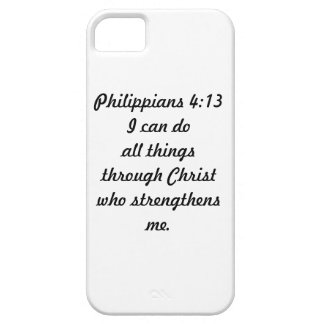 Caso de Iphone 5/5S del 4:13 de los filipenses iPhone 5 Carcasas