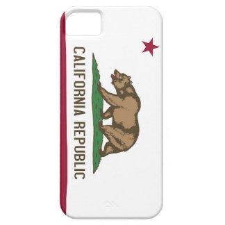 Caso de IPhone 5 con la bandera de California Funda Para iPhone 5 Barely There