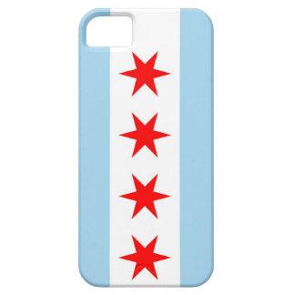 Caso de IPhone 5 con la bandera de Chicago, iPhone 5 Carcasa