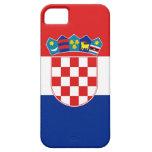 Caso de IPhone 5 con la bandera de Croacia Funda Para iPhone SE/5/5s