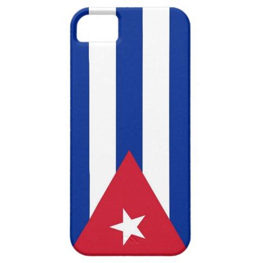 Caso de IPhone 5 con la bandera de Cuba iPhone 5 Carcasa