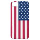 Caso de IPhone 5 con la bandera de los E.E.U.U. iPhone 5 Protectores