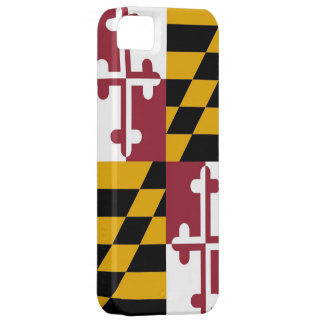 Caso de IPhone 5 con la bandera de Maryland iPhone 5 Fundas