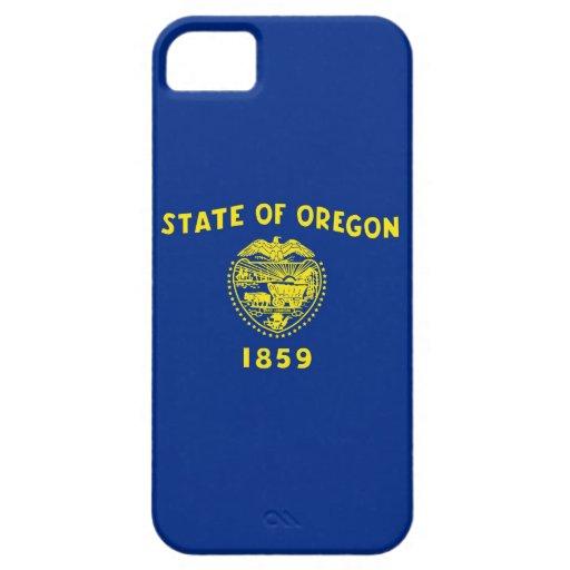 Caso de IPhone 5 con la bandera de Oregon iPhone 5 Carcasas