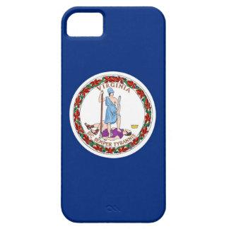 Caso de IPhone 5 con la bandera de Virginia iPhone 5 Funda