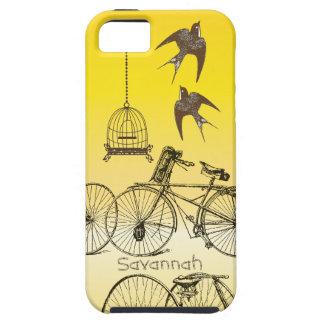 Caso de Iphone 5 de la bici del Birdcage de los pá iPhone 5 Case-Mate Protectores