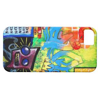 Caso de Iphone 5 de la contaminación del arte Funda Para iPhone SE/5/5s