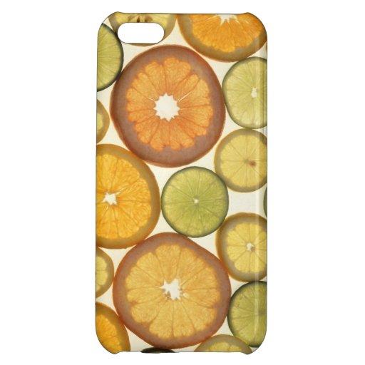 Caso de Iphone 5 de la fotografía de la fruta cítr
