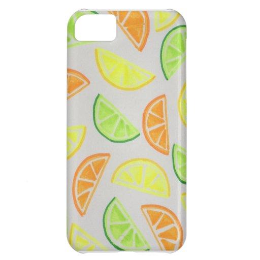 Caso de IPhone 5 de la fruta cítrica