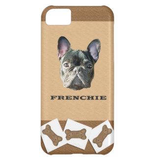 Caso de Iphone 5 de la galleta de perro de Frenchi Funda Para iPhone 5C