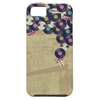 Caso de Iphone 5 de la música del vintage (persona iPhone 5 Case-Mate Carcasa