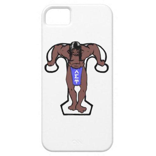 Caso de Iphone 5 de la postura de Upsilon iPhone 5 Cobertura