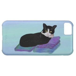 Caso de IPhone 5 de la siesta del gato del smoking Funda Para iPhone 5C