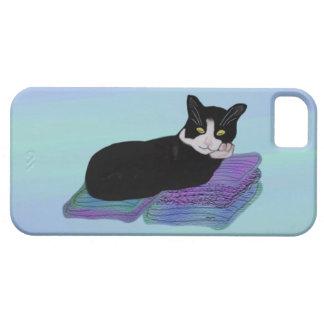 Caso de IPhone 5 de la siesta del gato del smoking iPhone 5 Carcasas