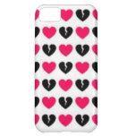Caso de Iphone 5 de los corazones de Emo