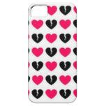 Caso de Iphone 5 de los corazones de Emo iPhone 5 Case-Mate Cobertura