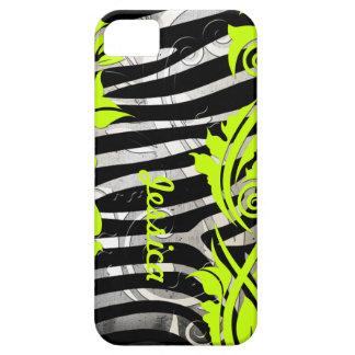 Caso de Iphone 5 de los Flourishes del estampado d iPhone 5 Case-Mate Carcasas