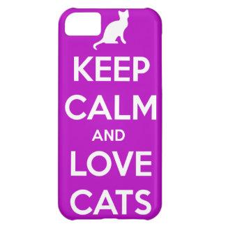 Caso de Iphone 5 de los gatos