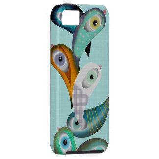 Caso de Iphone 5 de los pájaros de Lucha Libre iPhone 5 Carcasas