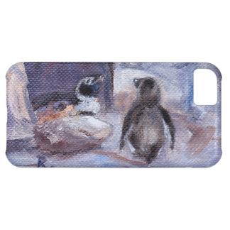 Caso de IPhone 5 de los pingüinos de la jerarquiza Funda Para iPhone 5C