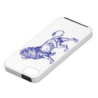 Caso de Iphone 5 del ambiente del león iPhone 5 Fundas
