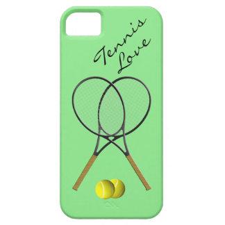 Caso de IPhone 5 del amor del tenis iPhone 5 Protector