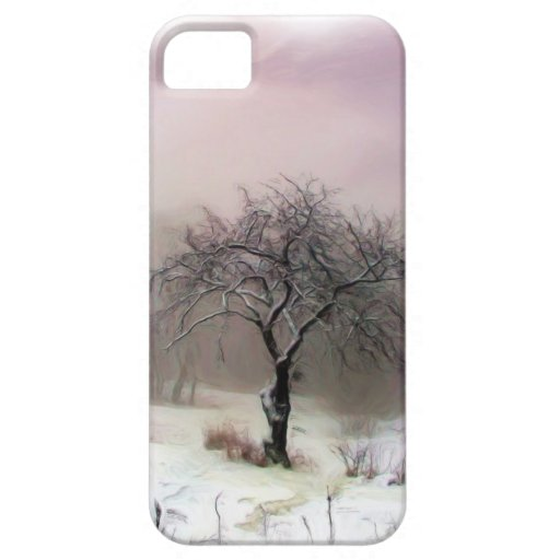 Caso de Iphone 5 del árbol del invierno iPhone 5 Case-Mate Cobertura