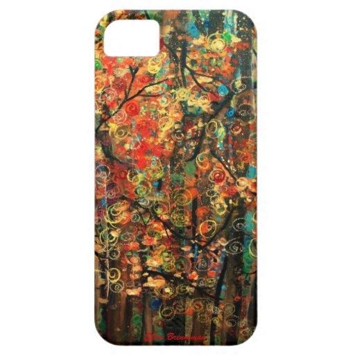 Caso de Iphone 5 del arte del otoño iPhone 5 Funda