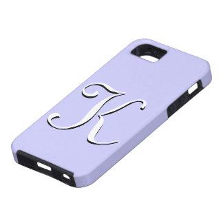 Caso de IPhone 5 del bígaro del monograma de K Funda Para iPhone 5 Tough