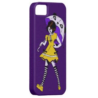 Caso de Iphone 5 del chica del paraguas (estilo de iPhone 5 Protectores